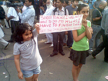 Disha and Nandini, school students