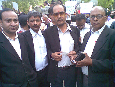 A group  of lawyers from Karkardooma Court