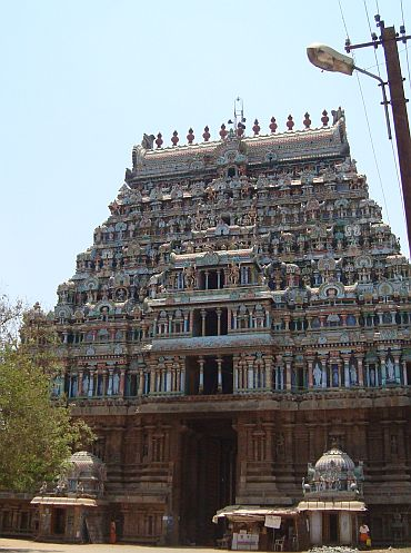 Thiruvarur is dotted with temples like this one