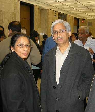 Dennis John's parents in the courtroom