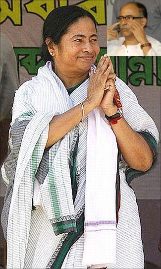 Trinamool Congress chief Mamata Banerjee. (Inset) Gautam Deb