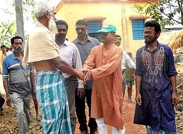 Mukherjee meets a village elder