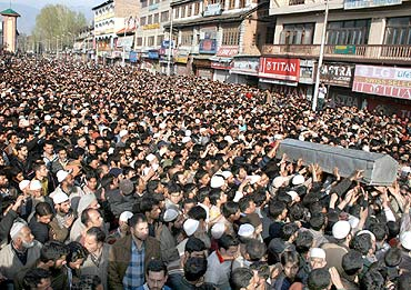 The Maulana's funeral procession