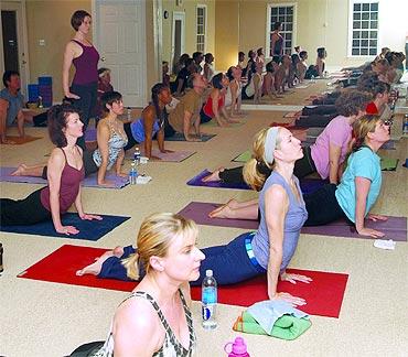 Becky Crigger's yoga class