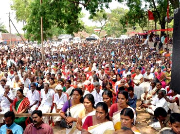 Thousands turn up to listen to the CM