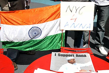 The rally at Times Square received overwhelming response from Indians