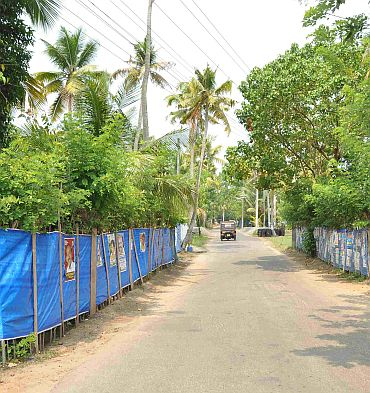 An empty strech of the road in Cherthala