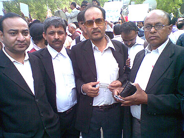 A group of lawyers from Karkardooma Court joined the campaign against corruption