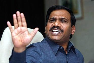 Former Telecom Minister A Raja, currently lodged in Tihar jail over the massive 2G spectrum allocation scam