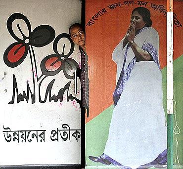 A Trinamool Congress poster