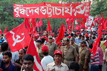A CPI-M rally in Kamalgazi in South 24 Parganas district