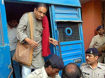 File picture of Dr Binayak Sen brought to a court in Raipur