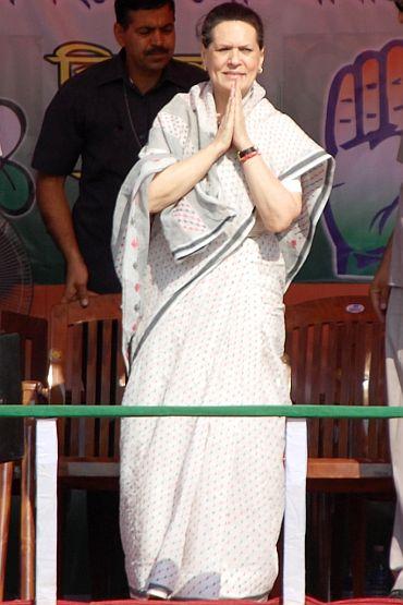 Congress chief Sonia Gandhi in Jalpaiguri
