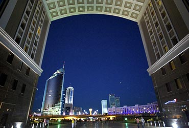 A view of Kazakhstan capital Astana
