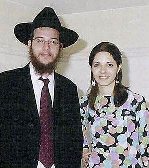 File photo of Rabbi Gavriel Noah Holtzberg and his wife Rivka