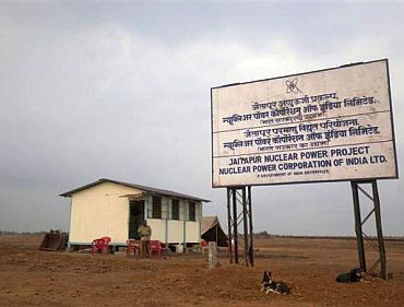 Site of the proposed nuclear plant at Jaitapur