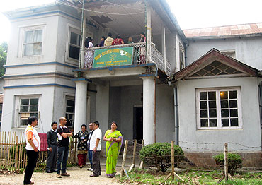 A polling booth in Darjeeling