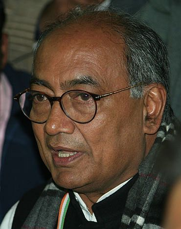 Senior Congress leader Digvijay Singh had claimed last week that people close to Hazare were 'somehow close' to the BJP and questioned the inclusion of father-son lawyer duo of Shanti and Prashant Bhushan in the ten-member joint drafting committee on Lokpal Bill