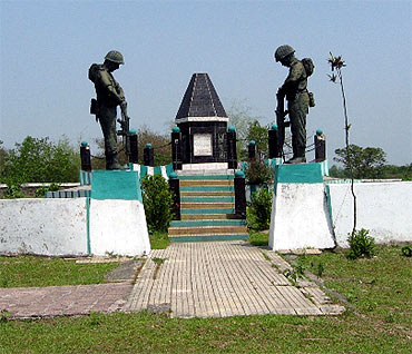 The Indo-Bangladesh border post, Seema Chowki, at Khalpara