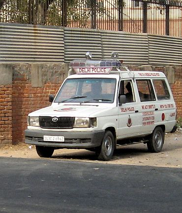A Delhi Police vehicle