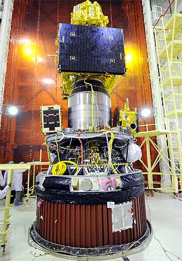 RESOURCESAT-2, YOUTHSAT and X-SAT integrated with PSLV-C16