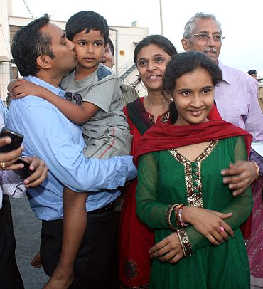 Karnik with his parents