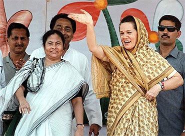 Banerjee with Congress President Sonia Gandhi