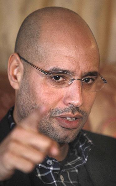 Libyan leader Muammar Gaddafi's most prominent son, Saif al-Islam