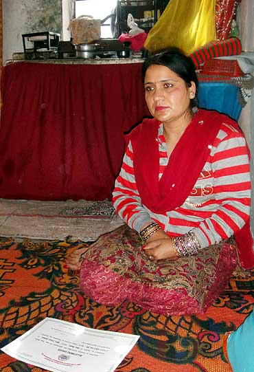 Babli Bhatt lost her husband a year after marriage. She works as a beautician in her camp home