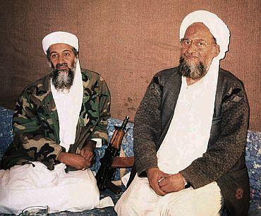 Al Qaeda deputy leader Ayman al-Zawahiri with Osama bin Laden