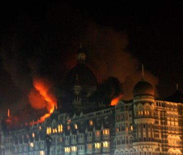 The Taj Mahal hotel in Mumbai during the 26 November, 2008 attack