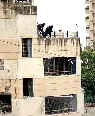 The Chabad House during the 26/11 attacks