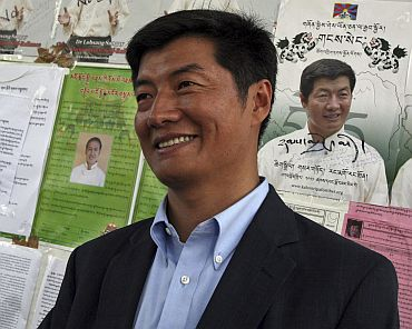 Sangay has been dubbed as the Tibetan Obama