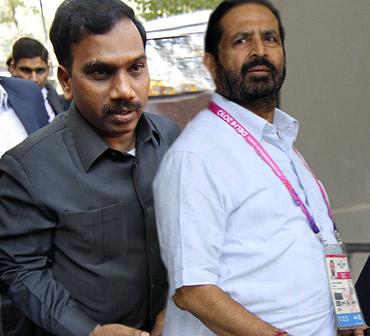 Former telecom minister A Raja and former CWG OC chairman Suresh Kalmadi