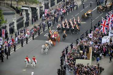 Pomp and pageantry of the Royal Procession