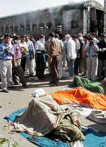 A file photo of the Godhra carnage site