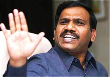 Jailed former minister A Raja