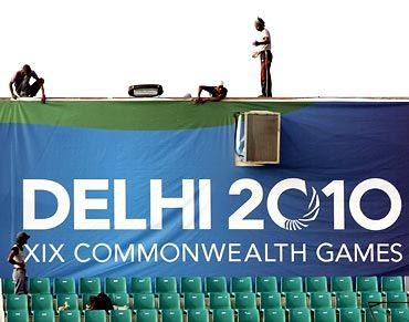 File picture of CWG preparations in New Delhi