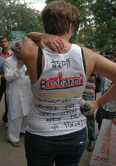 In PHOTOS: Besharmi morcha in New Delhi