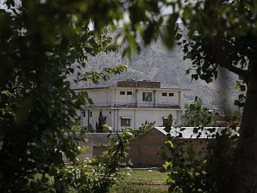 The compound in Abbottabad, Pakistan, where US soldiers killed Osama bin Laden
