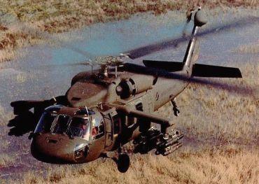 A Black Hawk copter