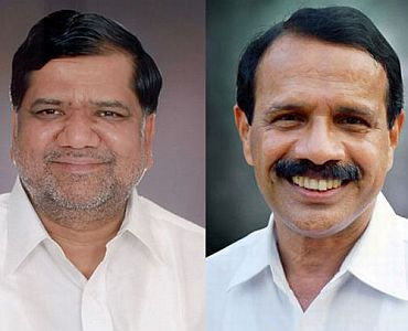(Left) Jagdish Shettar (Right) Sadananda Gowda