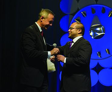 Maryland's Democratic Governor Martin O'Malley (left) inaugurates the conference
