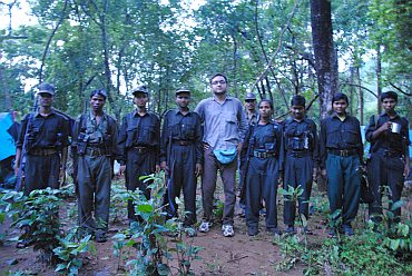 Rahul Pandita with Maoist guerillas