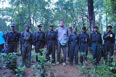 Rahul Pandita with Maoist guerillas