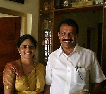 File photo of Gowda with wife Datty