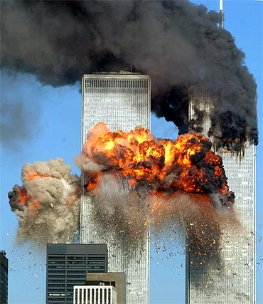 The hijacked airliners destroyed the twin towers of the World Trade Centre in New York