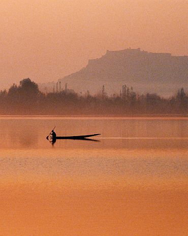 The Dal Lake in Srinagar
