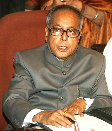 OUT: Finance Minister Pranab Mukherjee