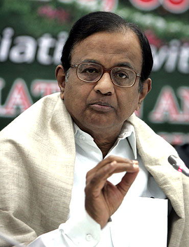 OUT: Home Minister P Chidambaram